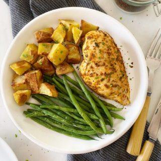 Cajun Chicken with Roast Potato & Beans