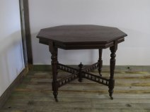 Mahogany octagonal sofa side table £185