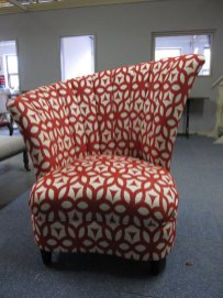 Unusual shell design arm chair the upholstery cost £230 - for sale £275
