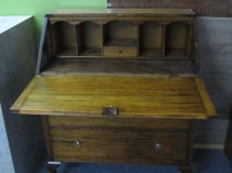 3 drawer oak bureau with separation areas with writing slope £150