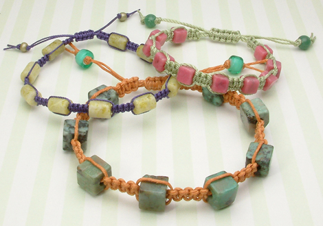 Macrame Bracelet Tutorial Samples