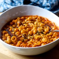 quick pasta and chickpeas
