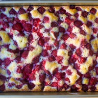strawberry summer sheet cake
