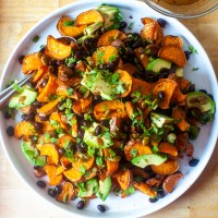 sweet potato salad with pepita dressing