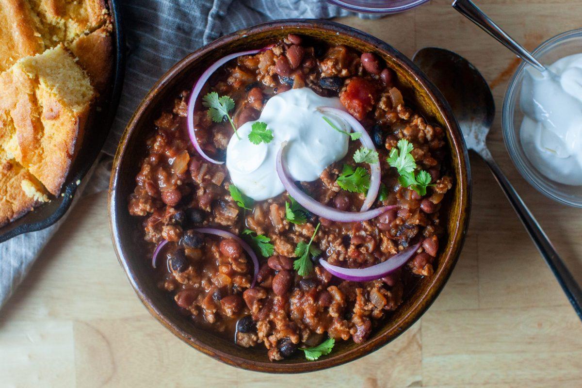 skillet turkey chili