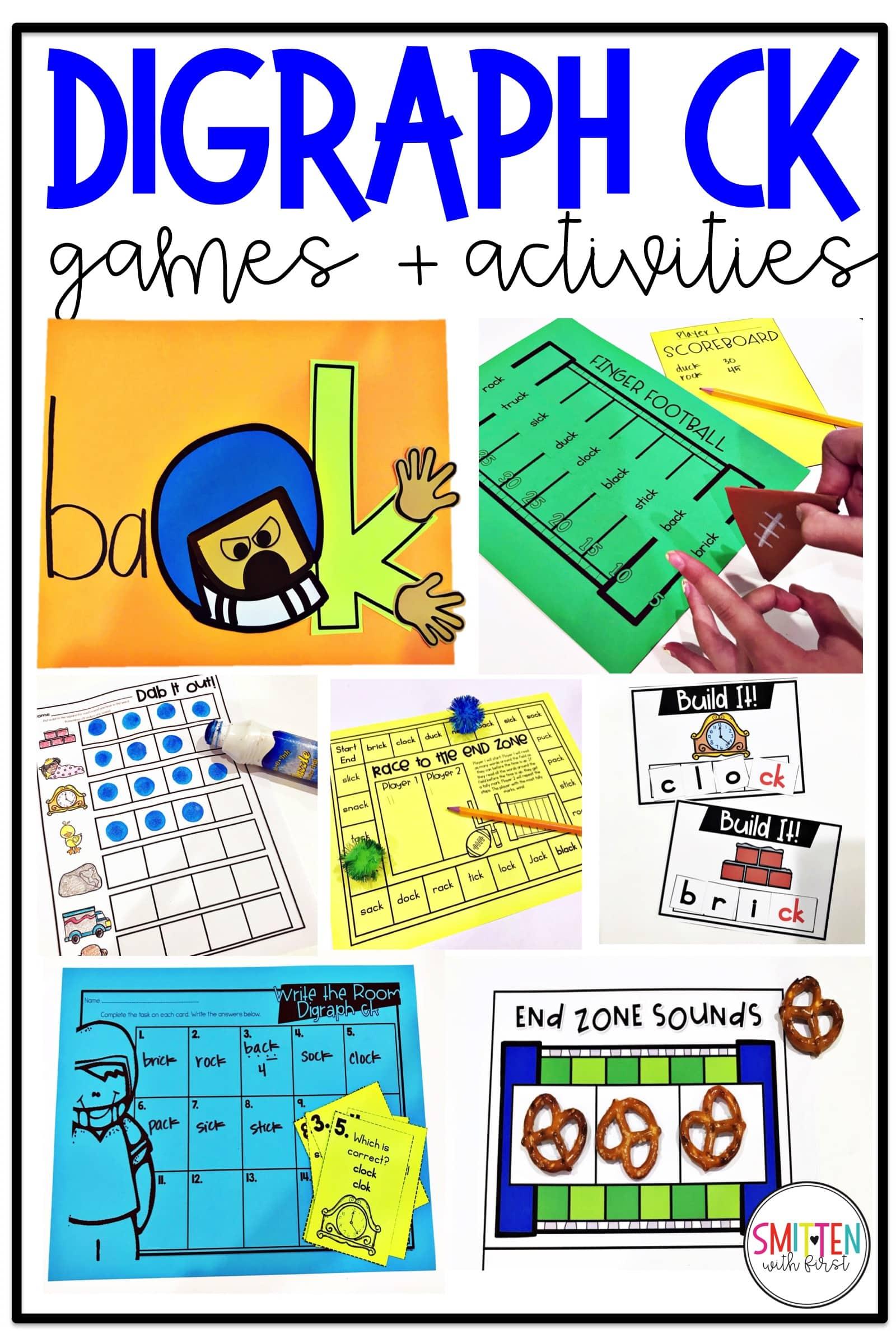 Digraph Ck Phonics Activities And Games