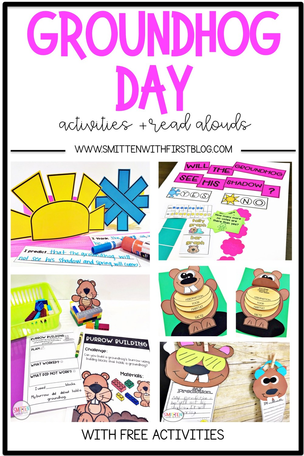 medium resolution of Groundhog Day activities and read alouds for Kindergarten