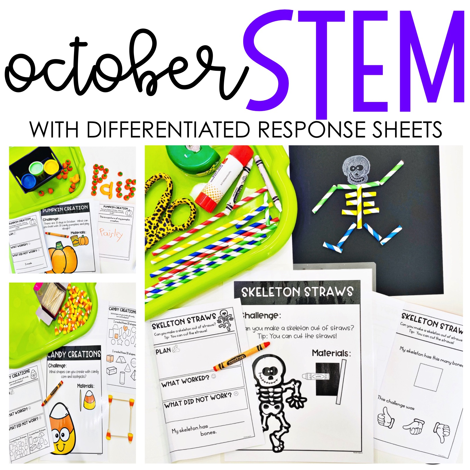 October Halloween Stem Activities With Differentiated