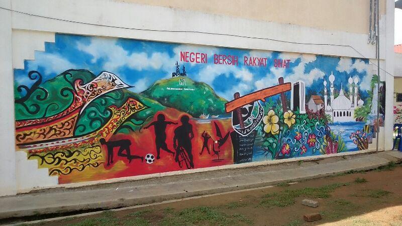 Pertandingan Melukis Mural Negeri Bersih Rakyat Sihat 2014
