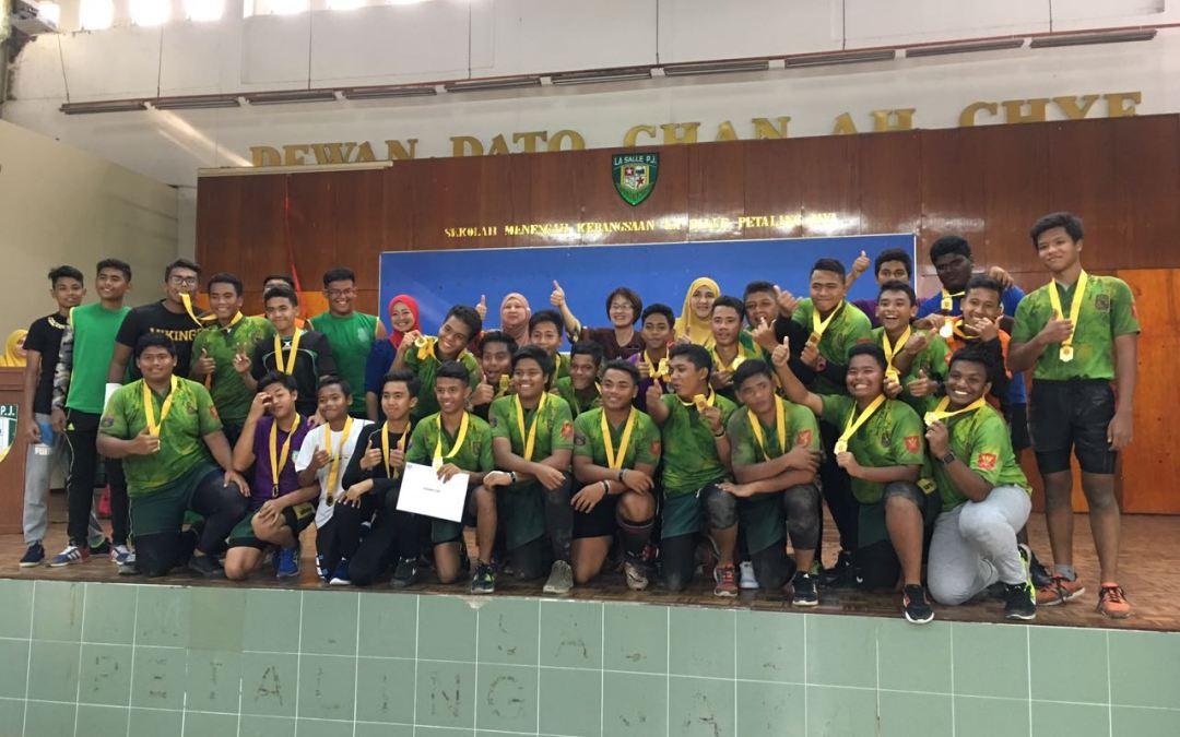 TAHNIAH!! LSPJ juara Ragbi MSSD 2017