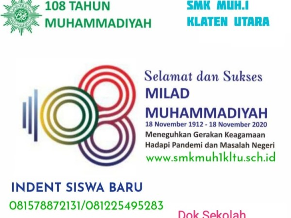 Milad Muhammadiyah ke 108 di SMK Muhammadiyah 1 Klaten Utara