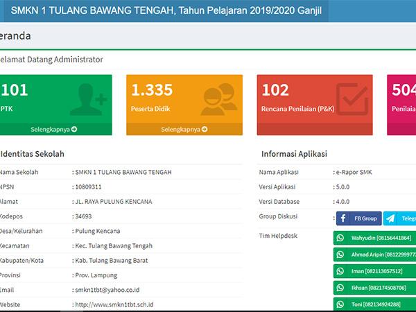 Tahapan Pengisian Erapor Semester Ganjil TP. 2019/2020