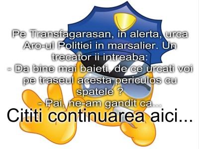 Bancul zilei :) Politia pe Transfagarasan…
