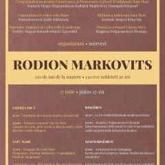 130 de ani de la naşterea scriitorului sătmărean de origine evreiască Rodion Markovits