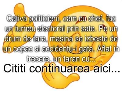 Bancul zilei :) Politicienii si accidentul auto…