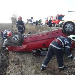 Doua accidente rutiere in doar o ora in judetul Satu Mare