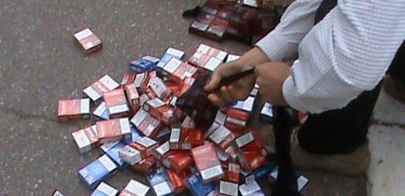 11 sancțiuni contravenționale pentru  traficul cu țigarete de proveniență Ucraina