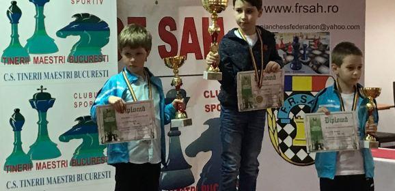 Torok-Brăndușan Darius (C.S. VOINTA SATU MARE)- CAMPION NAȚIONAL la șah clasic categoria Băieți 8 ani