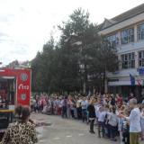ISU Satu Mare: Exercitiu de evacuare si demonstratii de stingere