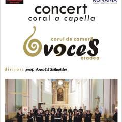 """Concertul coral a capella, susținut de corul de cameră """"Voces"""" din Oradea"""
