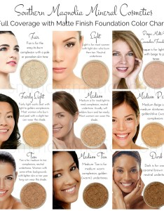 full coverage with matte finishcolor chart watermarked also foundation color charts southern magnolia mineral cosmetics rh smmcosmetics