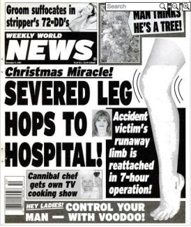 WWN cover: severed leg hops to hospital