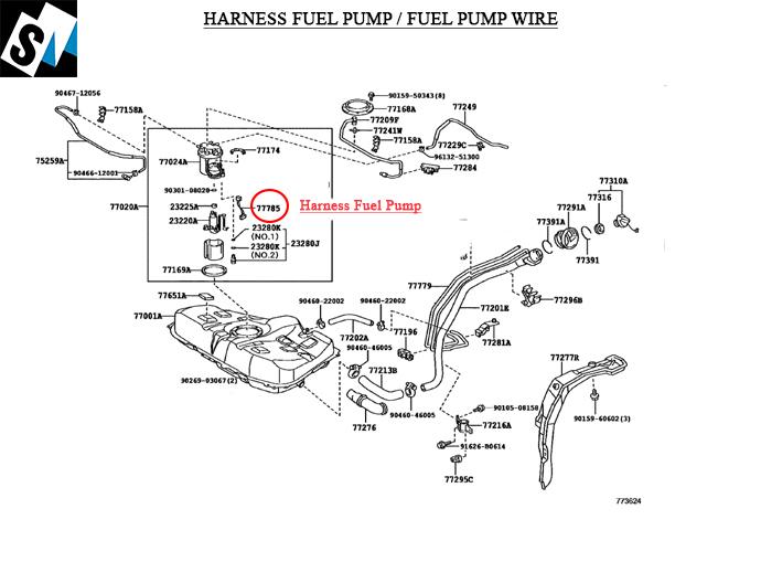 SM Motors Online Auto Parts Store. Fuel Pump Wire Corolla 2009