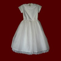 Silk Dupione With Organza Skirt Communion Dress