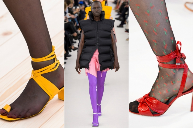 Resultado de imagen de vestido con sandalias y medias