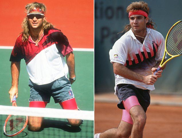 12 veces Andre Agassi desafió a los torneos de tenis con su ropa