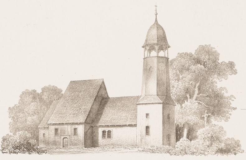 """Historia Smogorzowa: Drewniany kościółek wSmogorzowie - """"Smogorzowska katedra"""""""