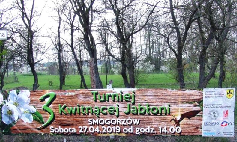 Baner - 3 Turniej Kwitnącej Jabłoni w Smogorzowie 2019