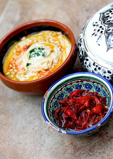 Baba Ganoush and Peppers