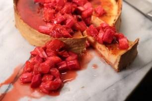 Rhubarb custard tart from 11 March