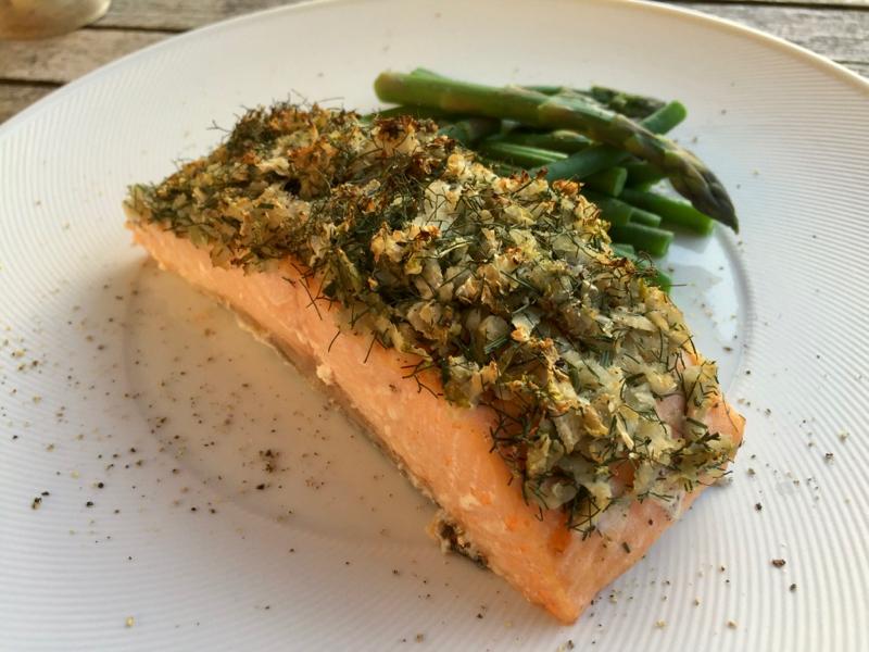 Cedar-wood Salmon with Fennel and Bronze Fennel