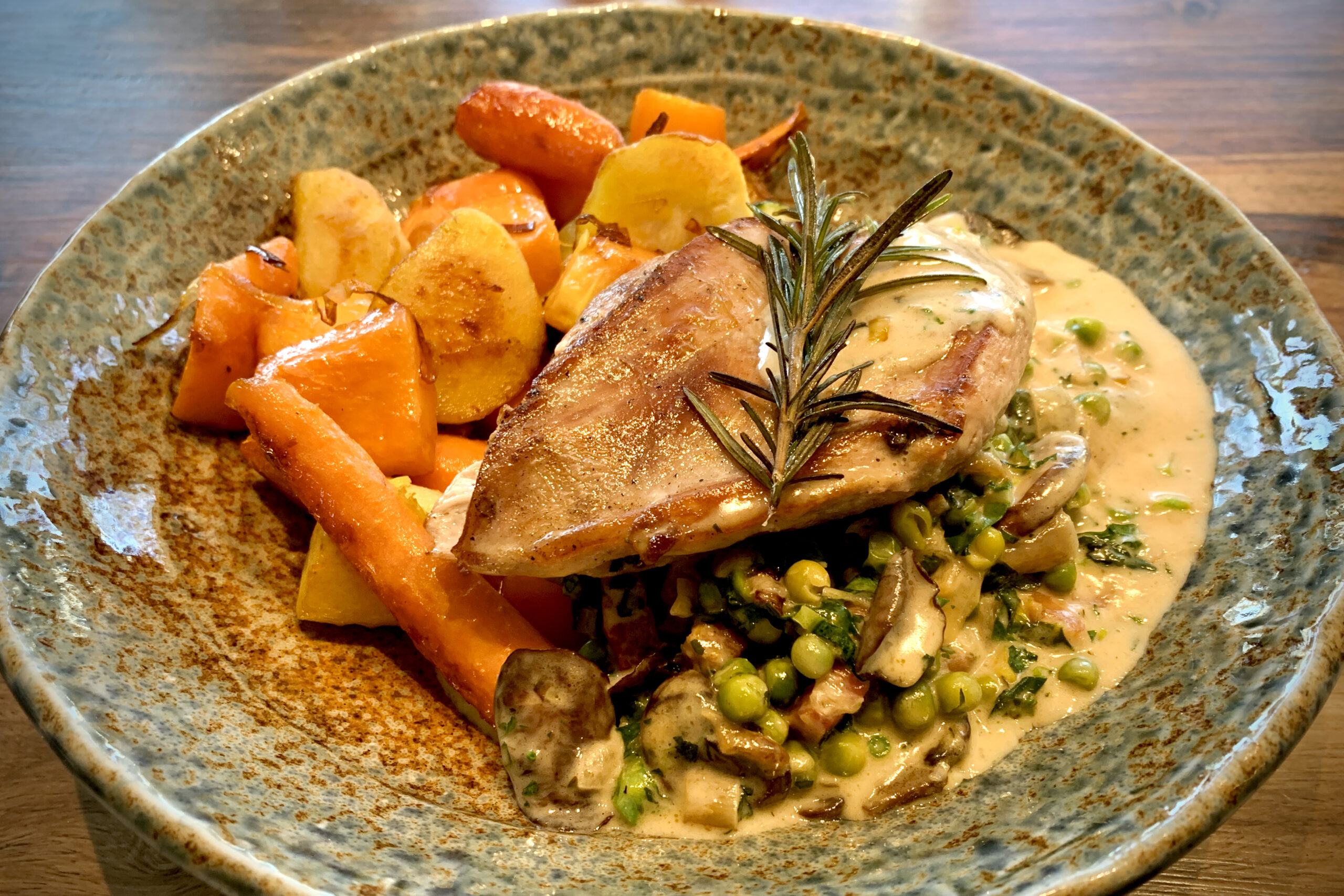 Pheasant Breast in a creamy parmesan sauce