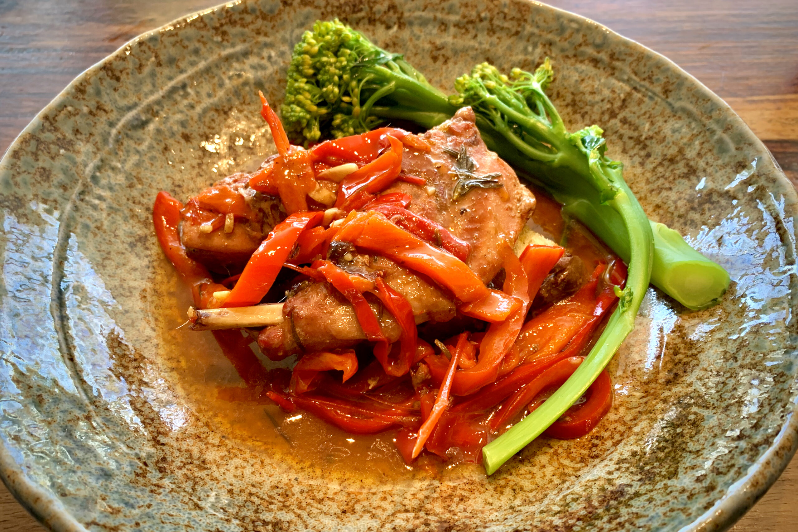 Italian rabbit with peppers