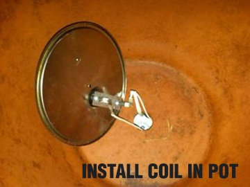install coils in pot