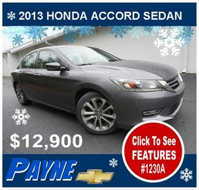 Payne 2013 Honda Accord Sedan winter 1230A 288