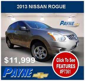 Payne 2013 Nissan Rogue P7361 288
