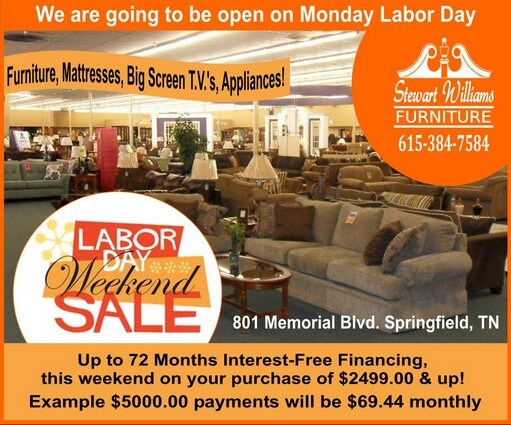 Stewart Williams Labor Day sale 511 1