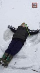 Submitted by Elizabeth Graves - How about snow angels? Greenbrier