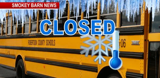 schools closed icy bus