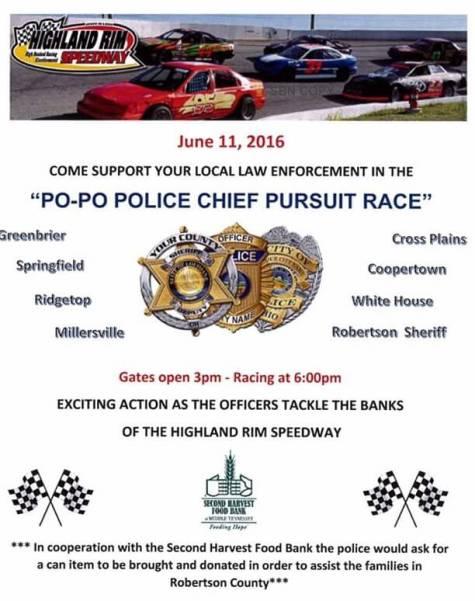 Highland Rim Police pursuit race flyer a