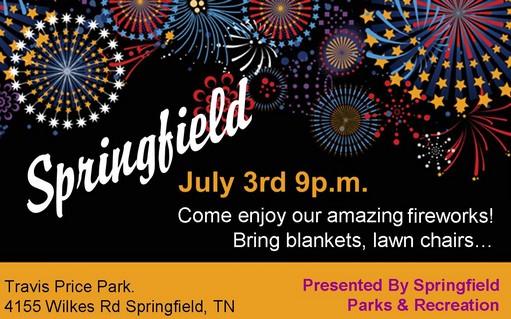 Springfield Fireworks 2016 flyer