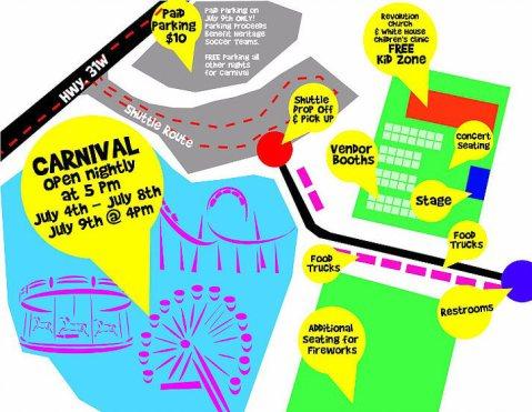 White House Americana festival map 2016