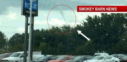 Funnel cloud in Robertson County over Springfield