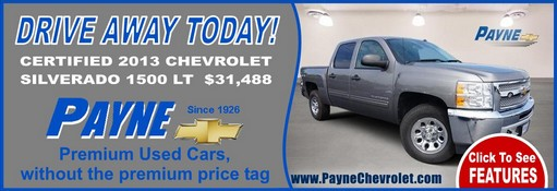 Payne certified 2013 chevrolet silverado 511