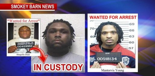 Shaquille Dunn Arrested Still wanted Mantorvis Young