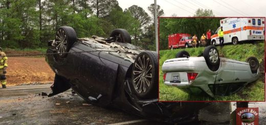 Officials Respond To Back-To-Back Rollover Crashes Saturday